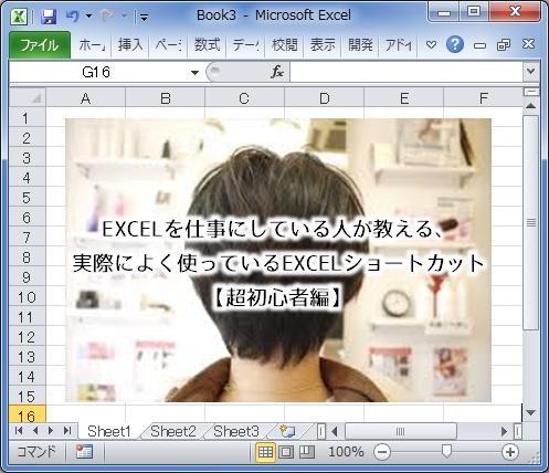 EXCELを仕事にしている人が教える、実際によく使っているEXCELショートカット【超初心者編】